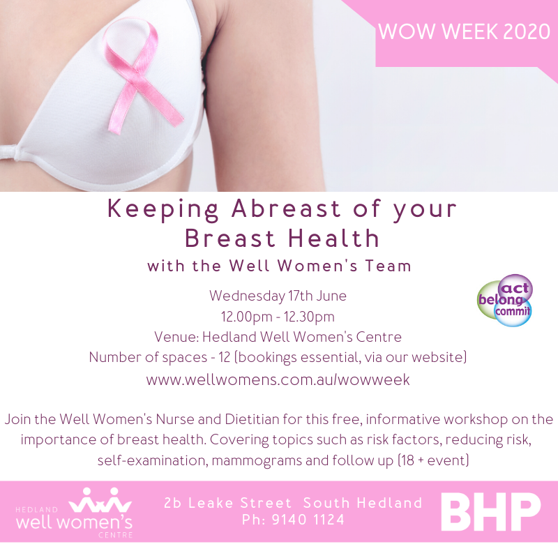 Keeping Abreast of your Breast Health Program in Hedland