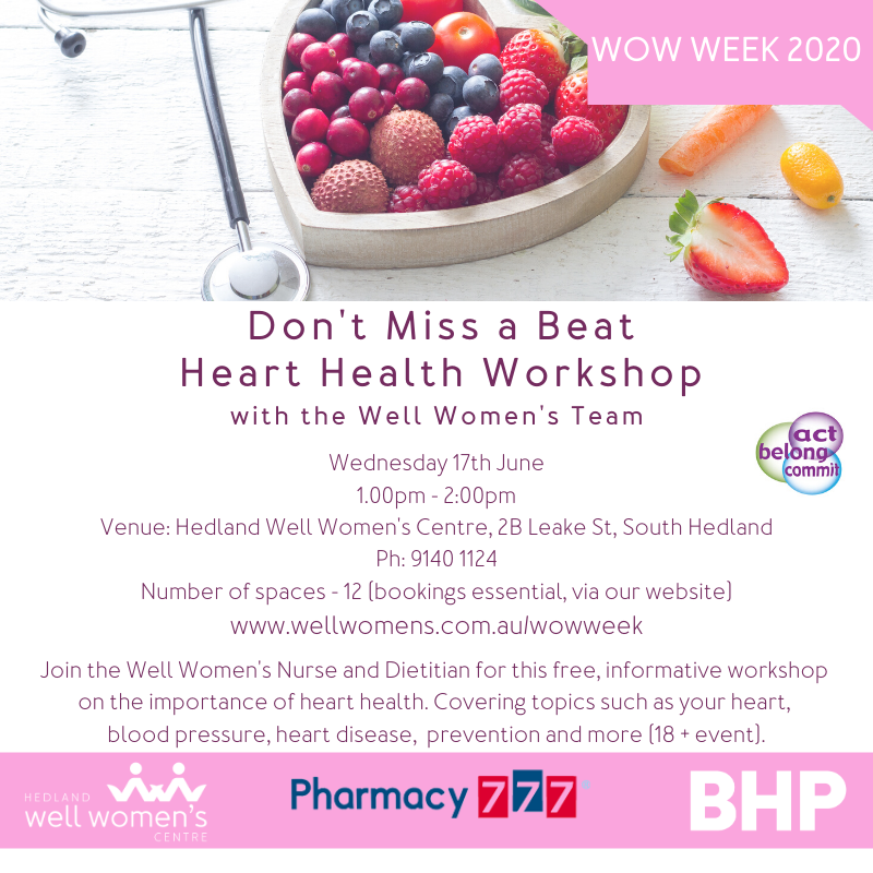 Don't Miss A Beat Heart Health Workshop in Hedland
