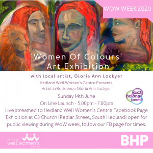 'Women of Colours' Art Exhibition Invitation in South Hedland