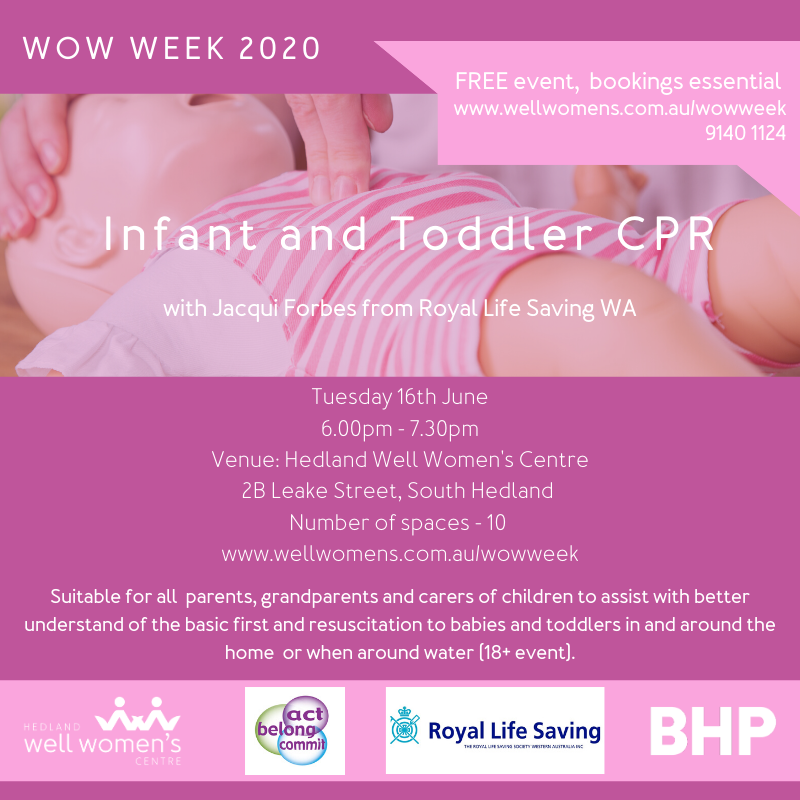 Infant and Toddler CPR Workshop in Hedland