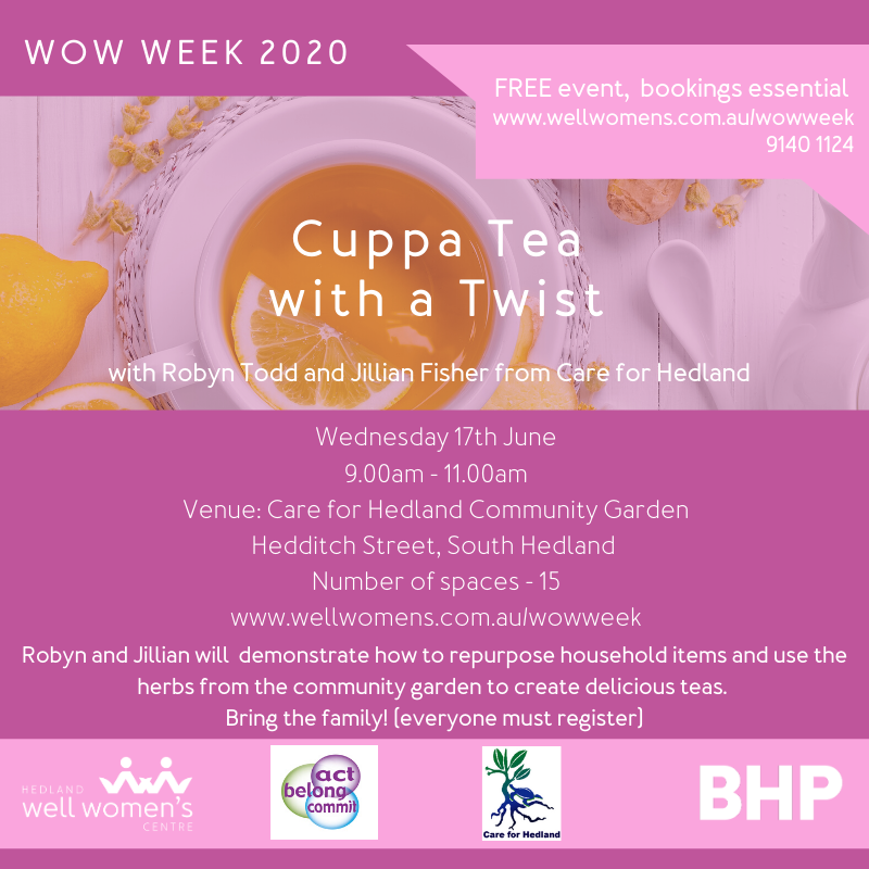 Cuppa with A Twist Workshop in South Hedland