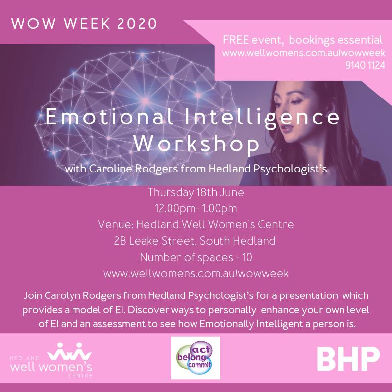 Emotional Intelligence Workshop in Hedland