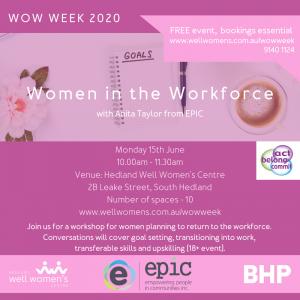 Women in the Workforce Workshop in Hedland