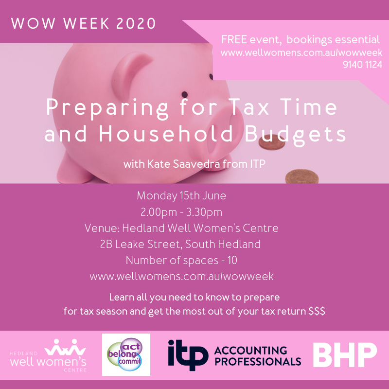 Preparing for Tax Time and Household Budget Workshop in Hedland