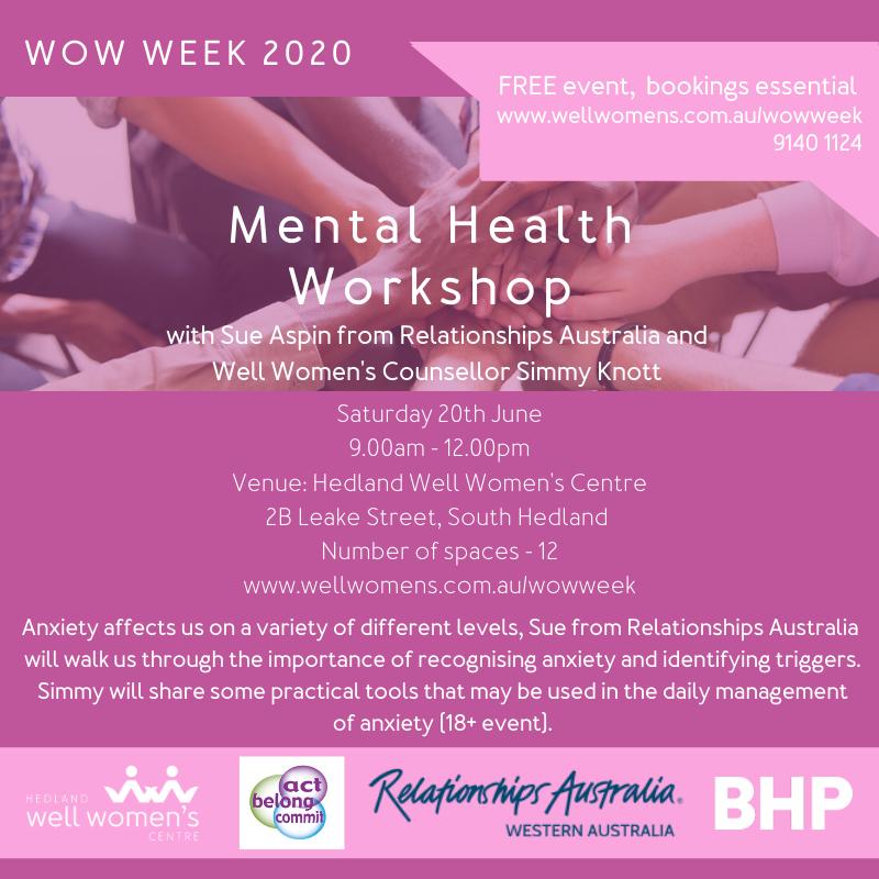 Mental Health Workshop in Hedland