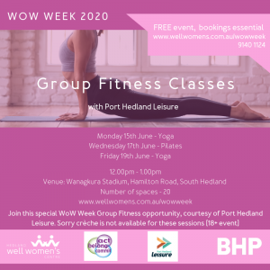 Group Fitness Classes in Port Hedland