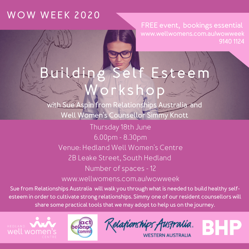 Building Self Esteem Workshop in Hedland