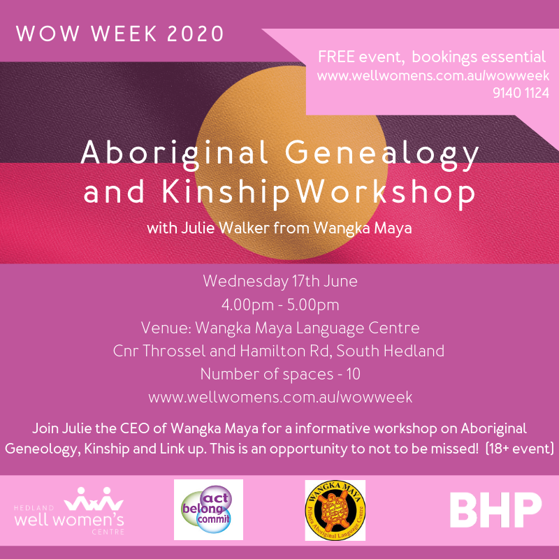 Aboriginal Genealogy and Kinship Workshop in South Hedland