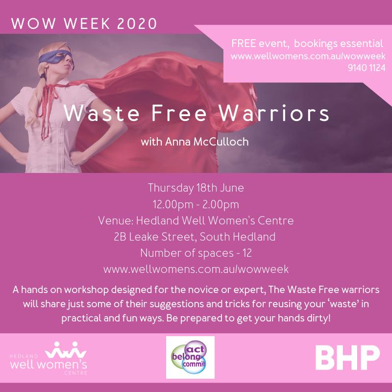Waste Free Warriors Program in Hedland