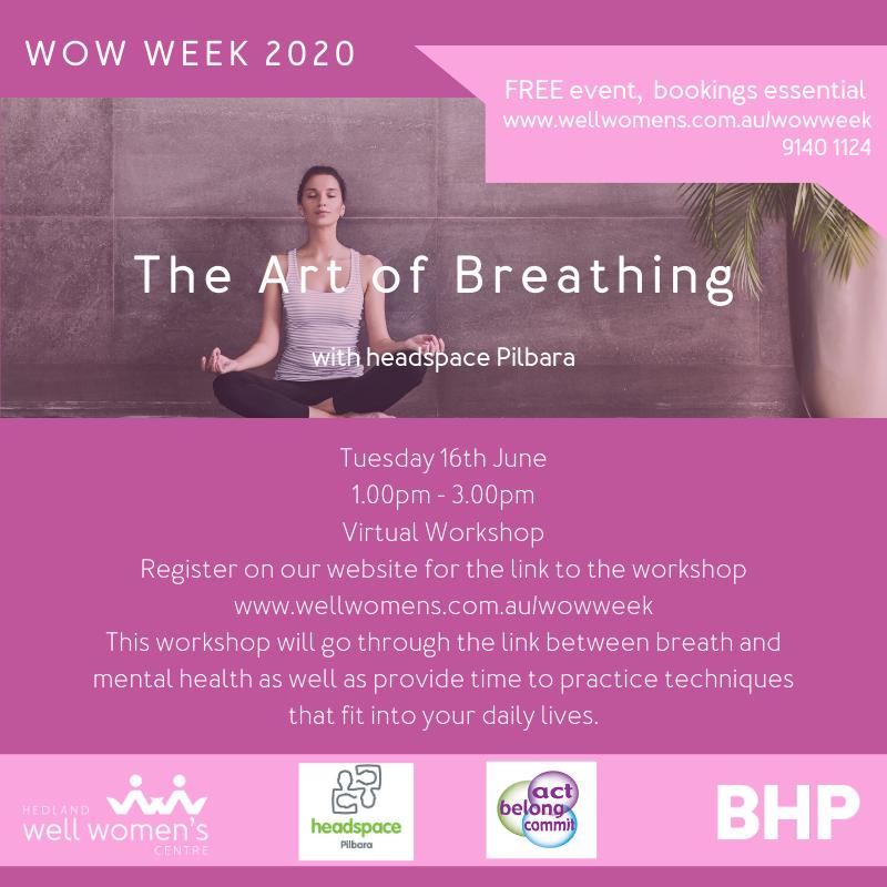 The Art of Breathing Workshop in Hedland