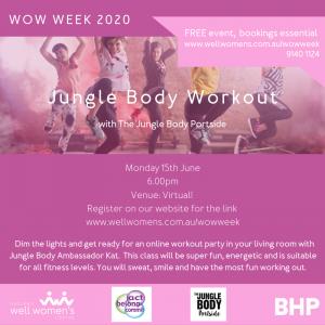Jungle Body Workout Program in Hedland
