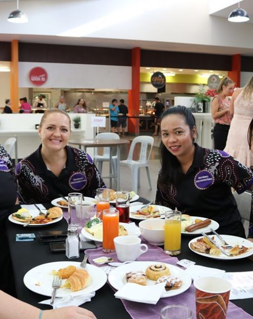 Pink Pilbara Breakfast Attendees in Hedland